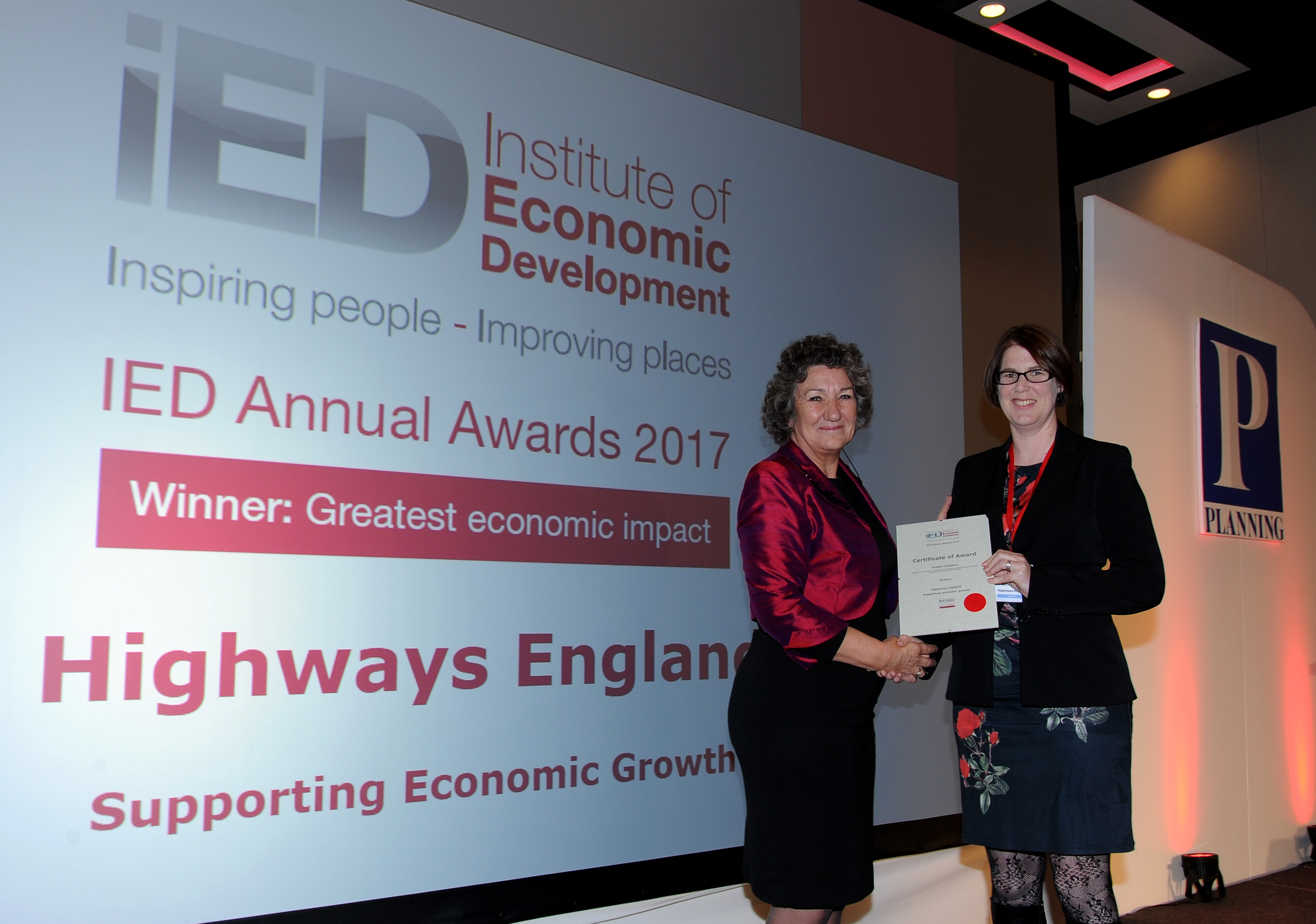ied annual awards 2017 highways england wins greatest economic
